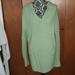 Mint Green pull-on hooded sweater